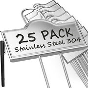 25-pack Weatherproof Large Metal Plant Labels Garden Markers Plant Tags Flowers