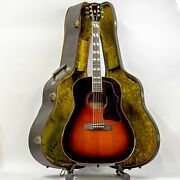 1970s Hayashi Rider Custom Model J-410 Dreadnought Acoustic Guitar With Case