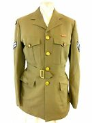 Canadian Rcaf Tropical Worsted Tw Corporals Tunic W/ Medal Ribbon Size N22