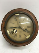 Rare Antique Clock New Haven Clock Co Wall For Parts Or Repair As Is