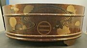 Large Japanese Edo Wood Lacquer Bowl W/ Imperial Mons