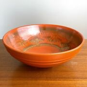 Pacific Pottery No. 314 Decorated Apache Red Low Salad Bowl California K33 Mark