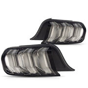 Vland 5 Mode For 2015-2020 Ford Mustang Clear White Sequential Led Tail Light
