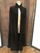 Loewe1846 Suede Chocolate Brown Cape Luxury Label Absolutely Gorgeous