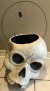 Bethany Lowe Halloween Huge Skelly Skull Candy Bucket W/spider-retired 2017