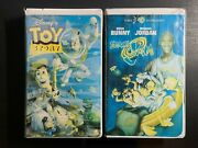 Lot Walt Disney Home Video Toy Story Vhs 6703 Rare Collectible And Space Jam
