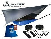 Lost Valley Camping Hammock   Bundle Includes Mosquito Net, Rain Fly, Tree