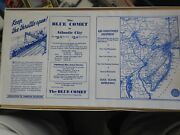 N Scale. Nib. The Blue Comet. 4-6-2 Loco W/6 Cars. Map And Schdule Included.