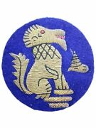 Ww2 British Chindits 3rd Infantry Division Bullion Wire Formation Patch