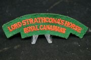 Ww2 Canadian Ldsh Strathconas Horse British Made Starch Back Shoulder Title