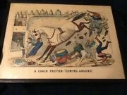 Rare 1880 Currier And Ives Crack Trotter Thomas Worth Horse Prints Kennedy