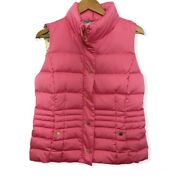 Lilly Pulitzer Isabelle Down Flamingo Pink Puffer Vest Womenand039s Size Large 198