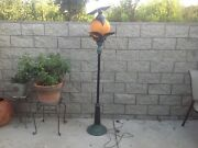 Rare Department 56 Halloween Full Moon Bat Lamp Post, Life Size 6 Ft, As-is