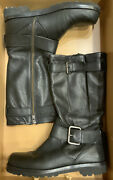 Msrp 295 Gentle Souls Buckled Up Black Leather Boots Mid Calf Women's Size 7