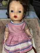 R And B Arranbee Doll In Classic Trunk And Clothes 10in Vintage