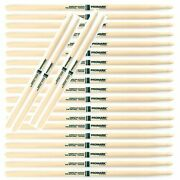 12 Pairs Promark The Natural American Hickory Wood Tip 5a - Txr5aw Drum Sticks