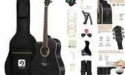 Left Handed Acoustic Electric Guitar 41 Inch Full Size Lefty Acoustic Guitar