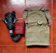 Ww2 British Army Mask And Haversack Marked 1942
