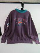 Vintage Official Lee Detroit Vipers Hockey Sweatshirt I.h.l Xx-large With Tags