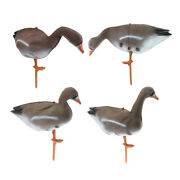 4x Realistic Goose Hunting Decoy Full Size Scarer Scarecrow Decoys Decor