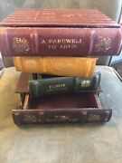 Vintage Faux Stacked Bookend 4-drawer Library Storage Box/chest/shelf See Pics