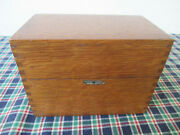 Vintage File Box Wood Globe Wernicke Office Recipe 83-c For 3and039and039 X 5and039and039 Cards