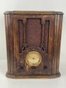 Antique Setchell Carlson Wooden Tombstone Tube Radio Ornate Design Untested 16t