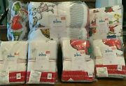 Pottery Barn Kids F/q Quilt Pillow Flannel Sheets And5 Shams