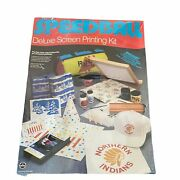 Vintage Speedball Deluxe Screen Printing Kit Includes Ink Fabric Instructions