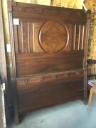 Antique Victorian 1880s Bedroom Set. 3 Pc Set Bed And Two Dressers Marble Top.