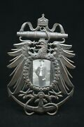 Ww1 Austro-hungarian Navy Cast Metal Picture Frame And Photo Unique Piece