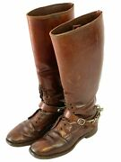 Ww2 Canadian Officers Leather Boots And Spurs