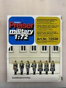 1/72 Preiser Military Riflemen With Mortar Lined Up German Reich 1939-45 72536