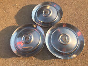 3 1953 Ford Fairlane Sunliner Victoria Thunderbird 15 Wheel Covers Hubcaps