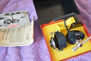 Garcia Mitchell Special 408 Later Reel Spin 2 Lg. Cap. Spools Case Box