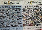 One Nighters 47 Marine Mammals And62 Game Fish Jeanette Crews Designs Cross Stitch