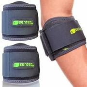 Arm Compression Sleeve Tennis Elbow Brace Tendonitis Fitness Support 2 Pc Senteq