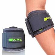 Arm Compression Sleeve Tennis Elbow Brace Tendonitis Fitness Support Senteq New