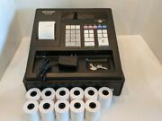 Sharp Xea107 Xe A107 Cash Register For Small Business, Key, Power Cord, Paper