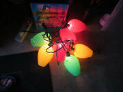 Vintage Party Patio Camping Blow Mold Lights Lites Lanterns Working Kitsch Mcm