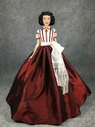 Franklin Mint Gone With The Wind Scarlett Christmas With Ashley Doll 16 Stand