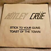 Motley Crue Stick To Your Guns 7 Leather Records Metal 45 Dhp Copy