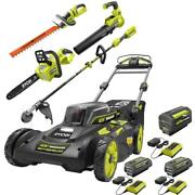 Ryobi Cordless Mower Leaf Blower Chainsaw Hedge And String Trimmer Battery