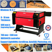 Us Stock 700mm X 500mm 80w Co2 Laser Cuuter Engraver For Crafts / Leather / Toys