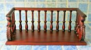 Large Antique English Oak Table Top Book Rack Stand Trough Bookends Circa 1910
