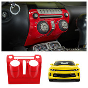Interior Center Control Dashboard Panel For Chevy Camaro 2010-15 Accessories Red