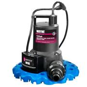 Pool Cover Pump 1/4 Hp 3000 Gph Auto On/off Fully Immersible Thermoplastic