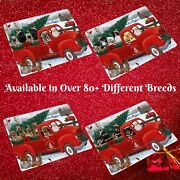 Christmas Santa Express Delivery Red Truck Refrigerator Magnets Dogs Cats Pet