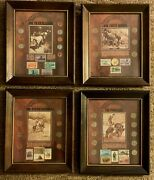 American West Coin Stamp Set American Indian Trailblazers Pioneers Forty Niners