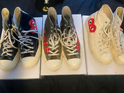 Size 9 - Converse Chuck Taylor All Star High X Comme Des Garcons Play Lot